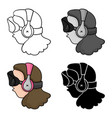 player with virtual reality headcartoon icon in vector image vector image