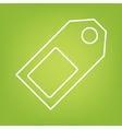 Price tag line icon vector image vector image