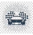 racing sports cars silhouette vector image vector image