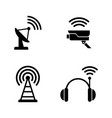 radio wireless technology simple related vector image