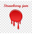 raspberry drip jam 3d sweet raspberries splash vector image vector image