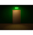 Room with exit sign vector image