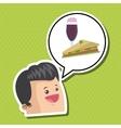 Sandwich design healthy food concept menu icon vector image