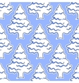 seamless pattern snowy covered trees vector image