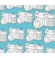 Seamless pattern with black and white photo vector image vector image