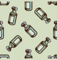 seamless pattern with hand drawn colored vaccine vector image