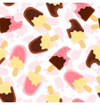 seamless pattern with whole and bitten vanilla vector image vector image