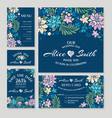 Set floral wedding cards