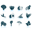 Set of vegetable iconsSet of vegetable iconsSet of vector image vector image