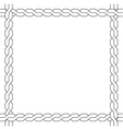 simple wicker frame monochrome pattern vector image