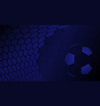 soccer background in blue colors vector image vector image