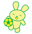 Soccer Rabbit vector image