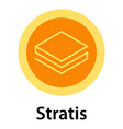 stratis icon flat style vector image