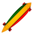 three color longboard vector image vector image