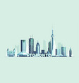 toronto skyline canada big city silhouette vector image