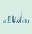 toronto skyline canada big city silhouette vector image vector image