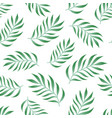 tropical seamless pattern with fern palm leaves vector image