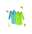 Two Warm Coats As Autumn Attribute vector image
