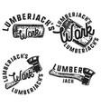 vintage lumberjack emblems vector image vector image