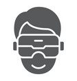 vr headset glyph icon game and technology vector image vector image