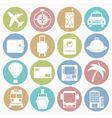 white icons travel vector image vector image