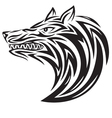 Wolf tribal vector image