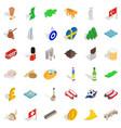 world icons set isometric style vector image vector image