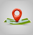 paper map icon with pin pointer vector image