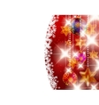 Red shiny christmas background vector image