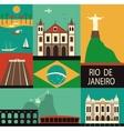 Symbols of Rio de Janeiro vector image