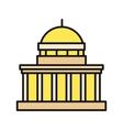 Icon Building Flat Design Isolated vector image