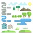 Landscape flat elements vector image