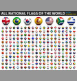 all national flags world 3d spherical vector image vector image