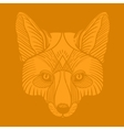 Animal fox head print Ethnic patterned ornate vector image vector image