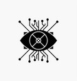 ar augmentation cyber eye lens glyph icon isolated vector image vector image