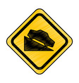 ascent on track traffic signal icon vector image vector image