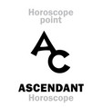 astrology ascendant horoscope vector image vector image