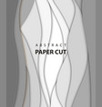 background with white and gray color paper cut vector image vector image