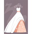 ball dress vector image vector image