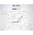 Big Idea concept with Doodle design style vector image vector image