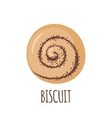 Biscuit icon on white background vector image vector image