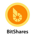 bitshares icon flat style vector image