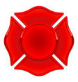 blank fire department logo base red with red trim vector image vector image