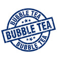 bubble tea blue round grunge stamp vector image