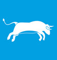 bull icon white vector image