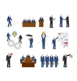 business people in flat style vector image