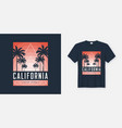 California ocean avenue t-shirt and apparel design