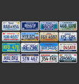 car number plates license registration in usa vector image
