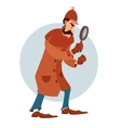 Cartoon flat detective vector image