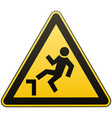 caution possible fall from height attention is vector image vector image